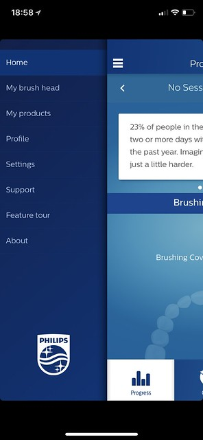 Philips Sonicare iOS App - Menu