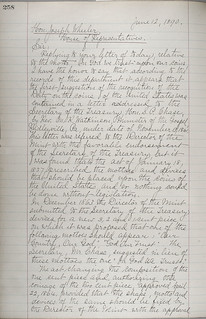 1890 Leach In God We Trust Letter page 1