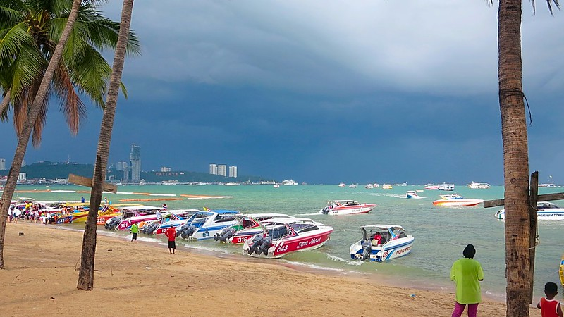 Chinese storm Thailand beach