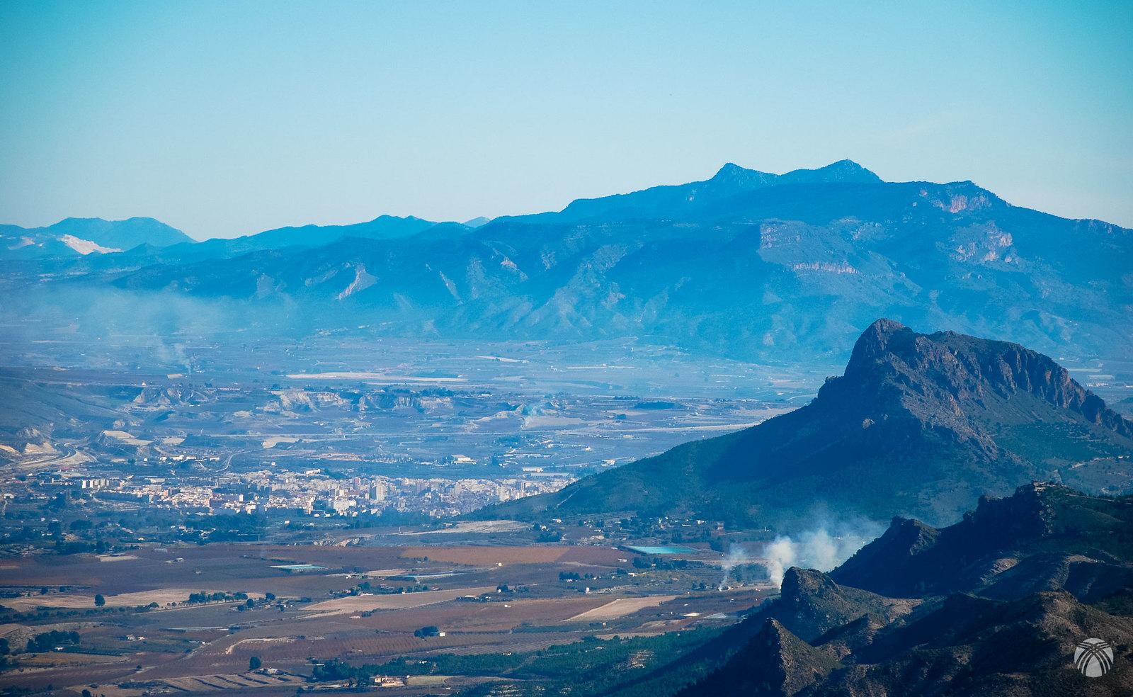 Vistas de Cieza, la Atalaya y la sierra de la Pila
