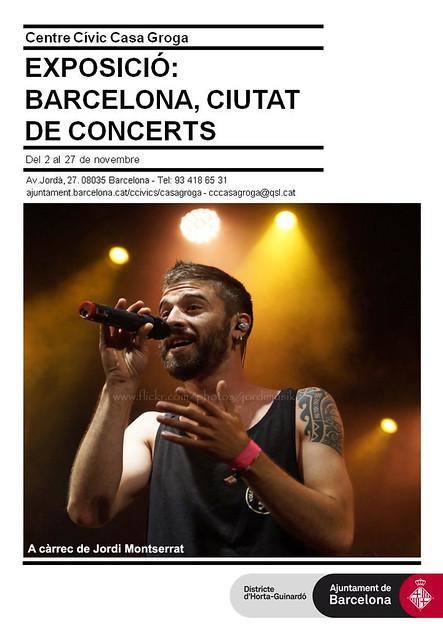 Exposició fotogràfica Barcelona ciutat de concerts al centre cívic Casa Groga