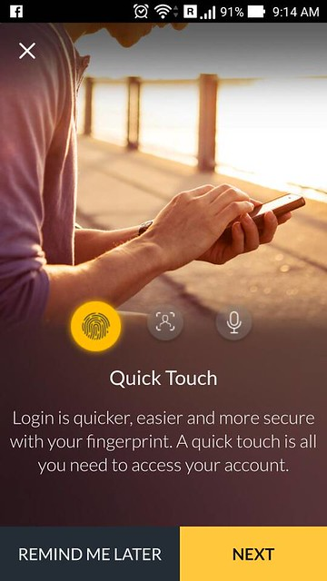 Biometric Login Quick Touch