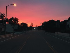 red autumn sky.