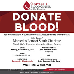 Donate Blood with us today during our Blood Drive with Community Blood Center of the Carolinas. To schedule your appointment visit: http://ift.tt/2zdqnfG