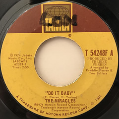 THE MIRACLES:DO IT BABY(LABEL SIDE-A)