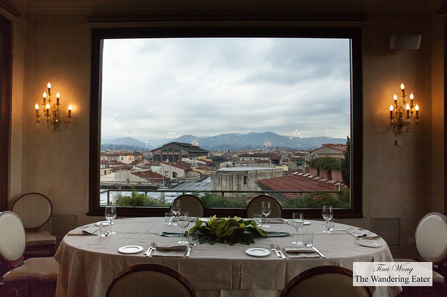 Huge portrait window to the view of Florence