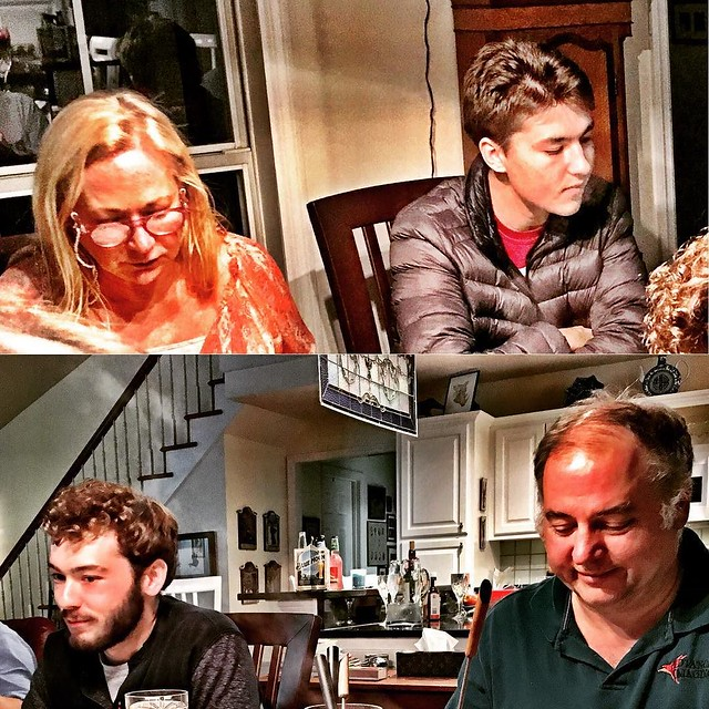 Woo and Robert (top), and Ken and Harry. Thanksgiving Fondu Fest 2017. Great food, great guests, great times.