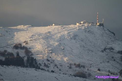 Nieve sobre el monte la Rhune