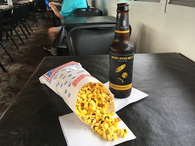 Popcorn and beer - Memphis Riverboats