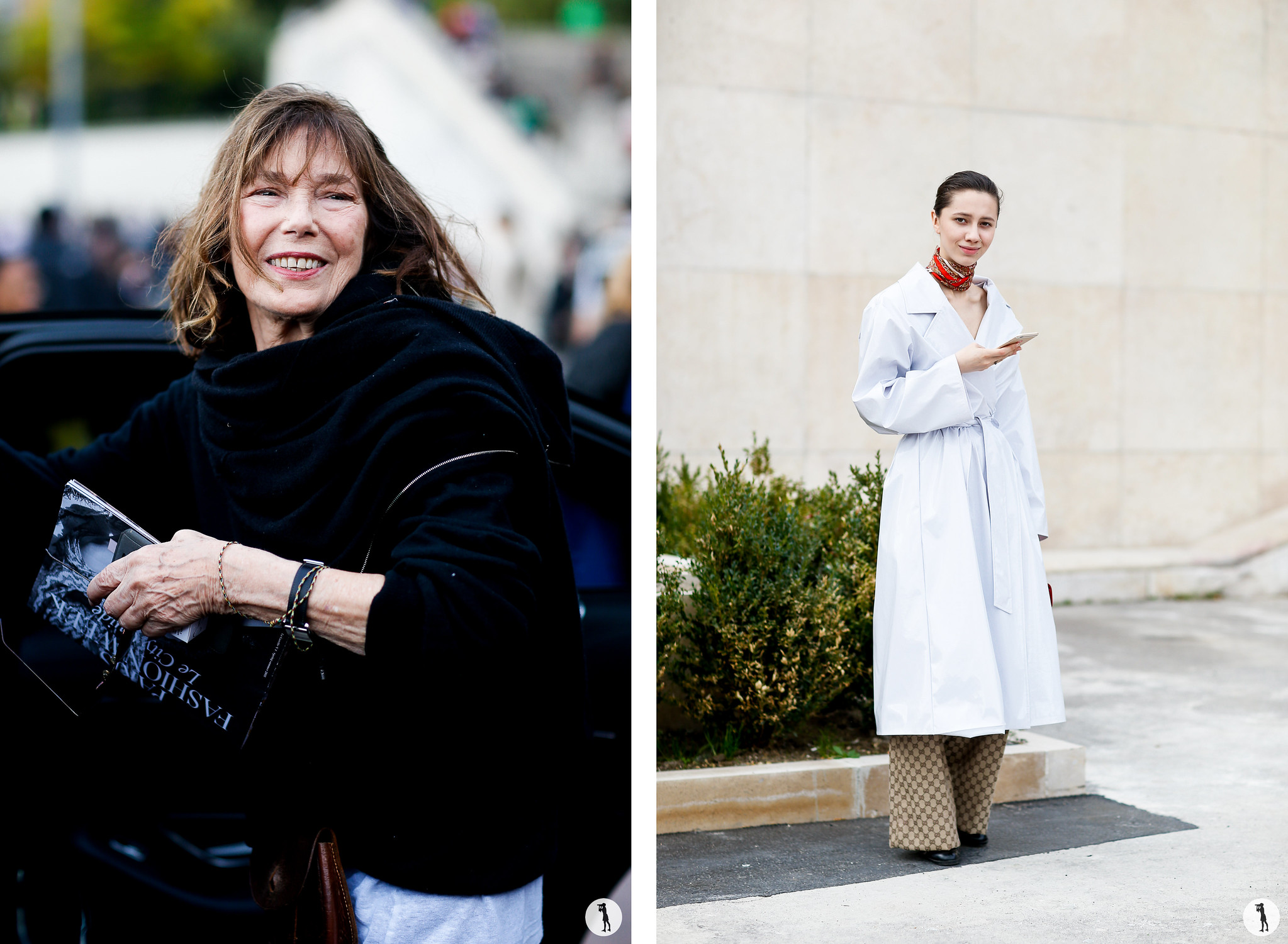 Jane Birkin and Liza Gysevskaya - Paris Fashion Week SS18
