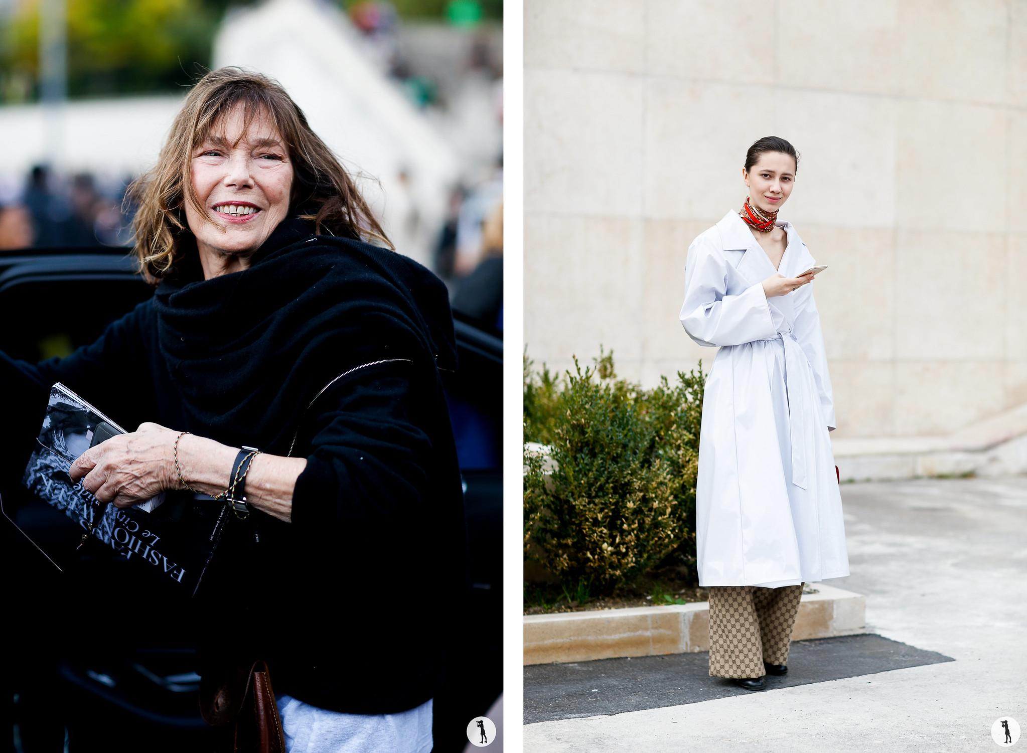Jane Birkin and Liza Gysevskaya - Paris Fashion Week SS18