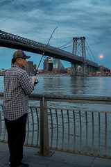 Fisherman on the full moon