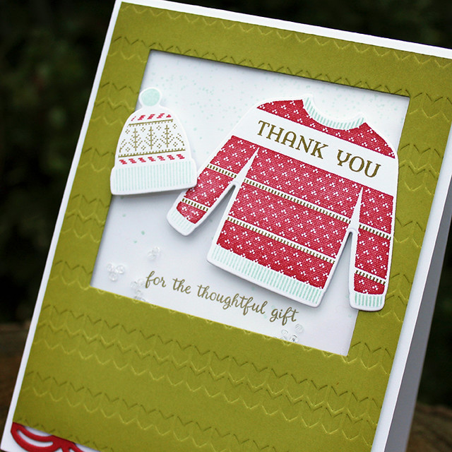 Christmas Thank You Shaker Card 2