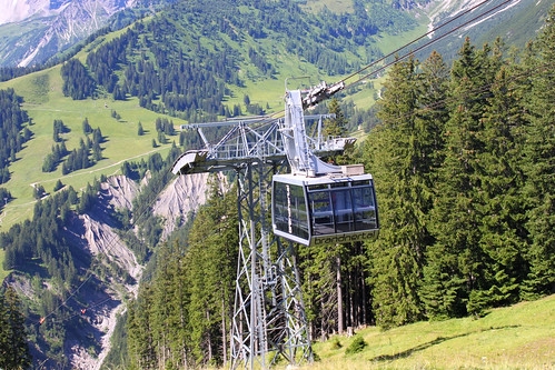 cable car to Burtschasattel in Brand