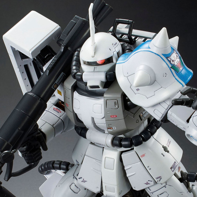 RG 1/144《機動戰士鋼彈MSV-R》MS-06R-1A 白狼「松永真」專用高機動型薩克II (シン・マツナガ専用ザクII)【PB限定】