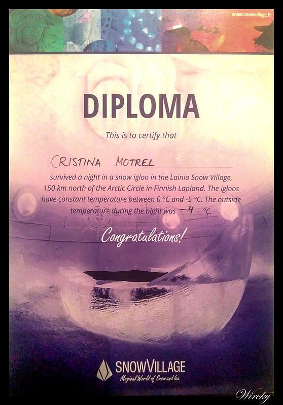 Iglú de hielo en Laponia - Diploma del Snow Village