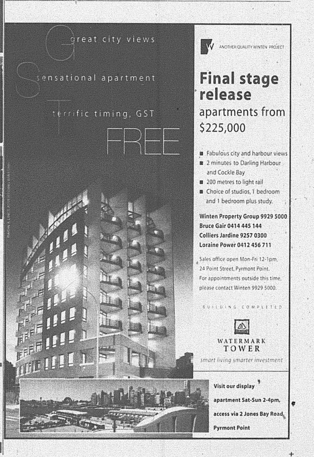 Watermark Tower June 10 2000 SMH Domain 21A