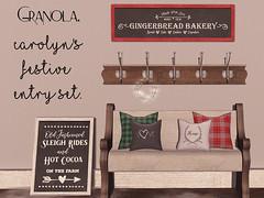 Granola. Carolyn's Festive Entry Set.