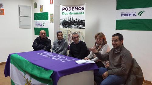 Podemos acto 4D con el juez Juan Pedro Illanes y Sergio Pascual