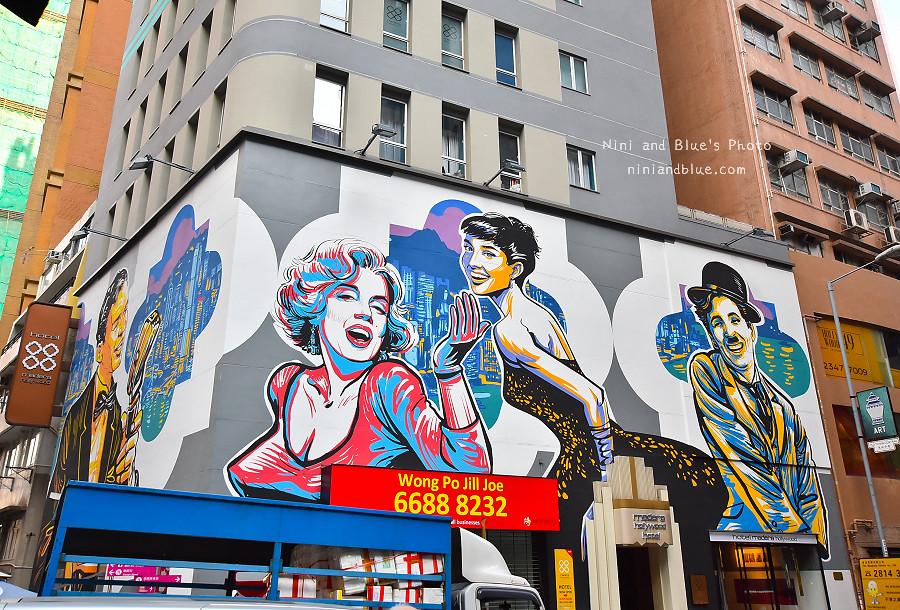 香港景點 舊城中環彩繪牆16