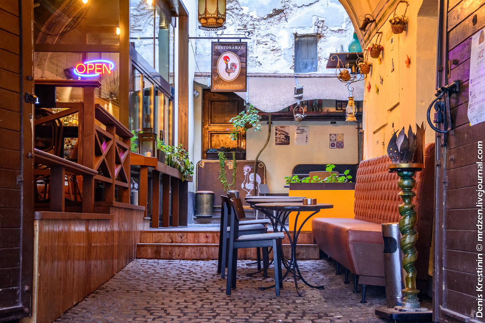 Вильнюс. Старый город. Едальня Galo do Porto.
