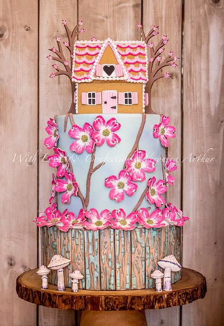 Dogwood Cottage Cake by With Love & Confection