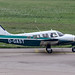 D-GAST - 1982 build Piper PA-34-220T Seneca III, taxiing for departure on Runway 24 at Friedrichshafen during Aero 2017