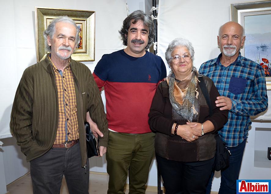 Ressam Recep Ak, Ressam Ahmet Atlı, Ressam Fazilet Topçuoğlu, Serdar Topçuoğlu