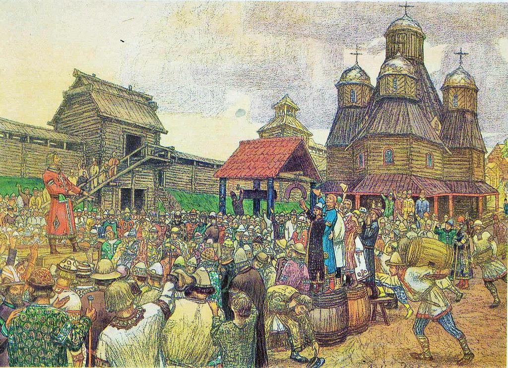«Псковское вече» В. М. Васнецов