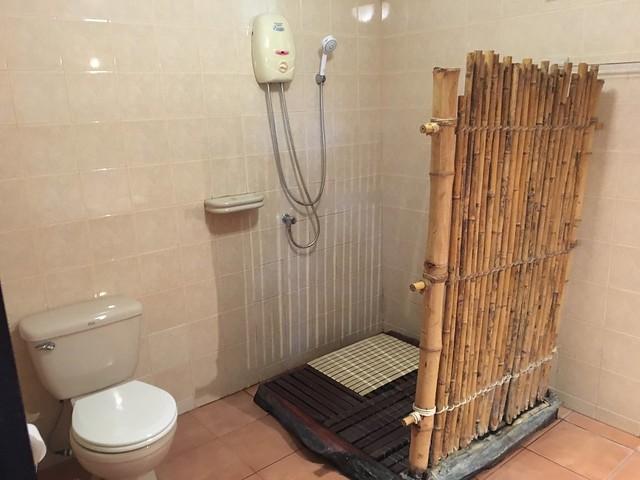シャワーのちょっと野生的なインテリアがおしゃれ