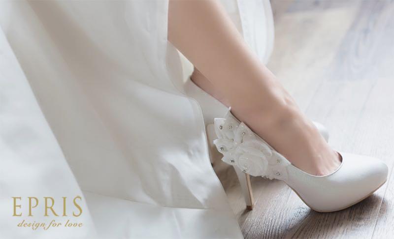 白色婚鞋高跟鞋推薦,圓頭高跟鞋,跟鞋推薦,中跟鞋,女鞋 推薦,低跟鞋推薦,艾佩絲EPRIS婚鞋