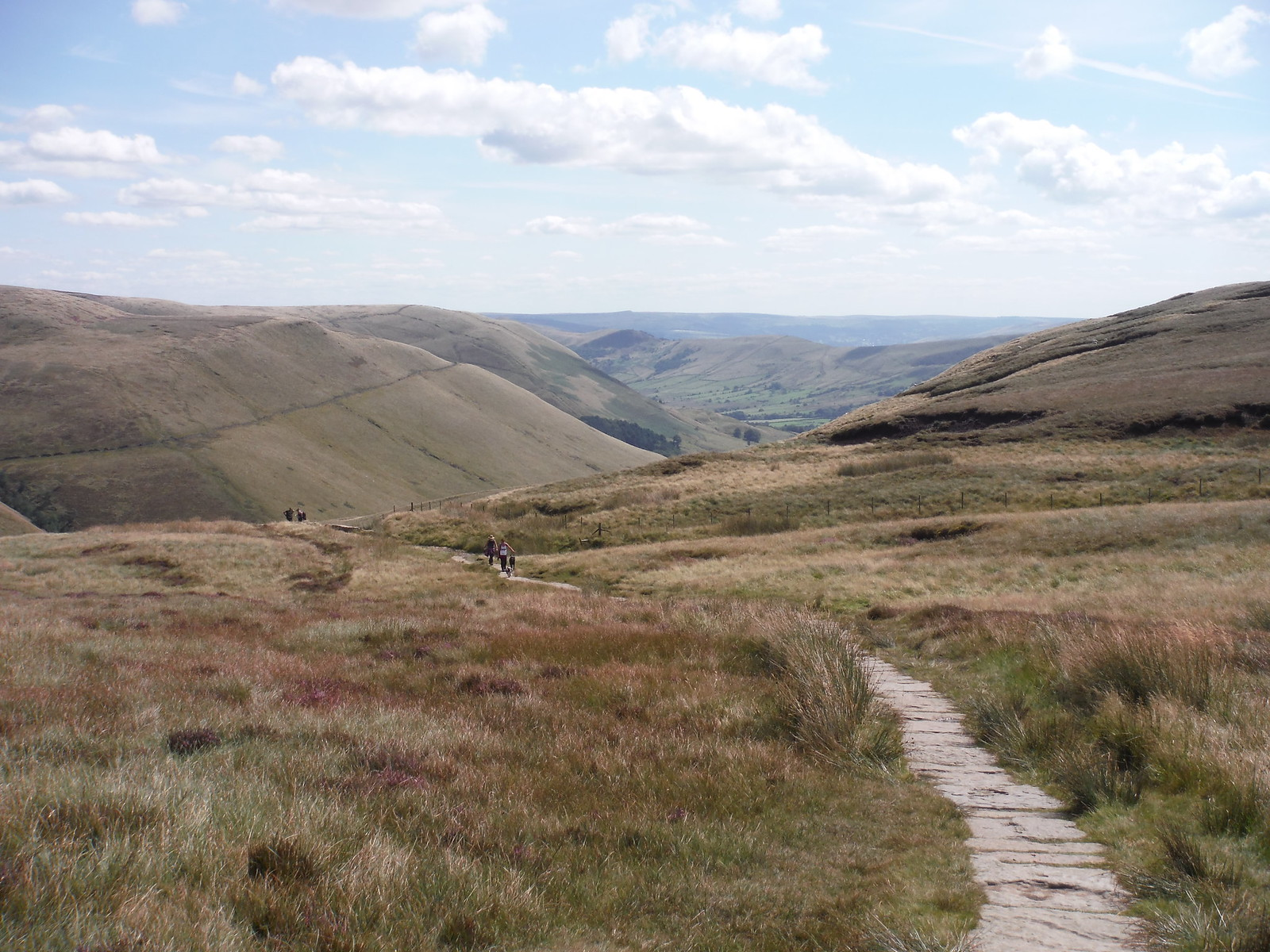 Vale of Edale from Path by Swine's Back SWC Walk 303 - Edale Circular (via Kinder Scout and Mam Tor)