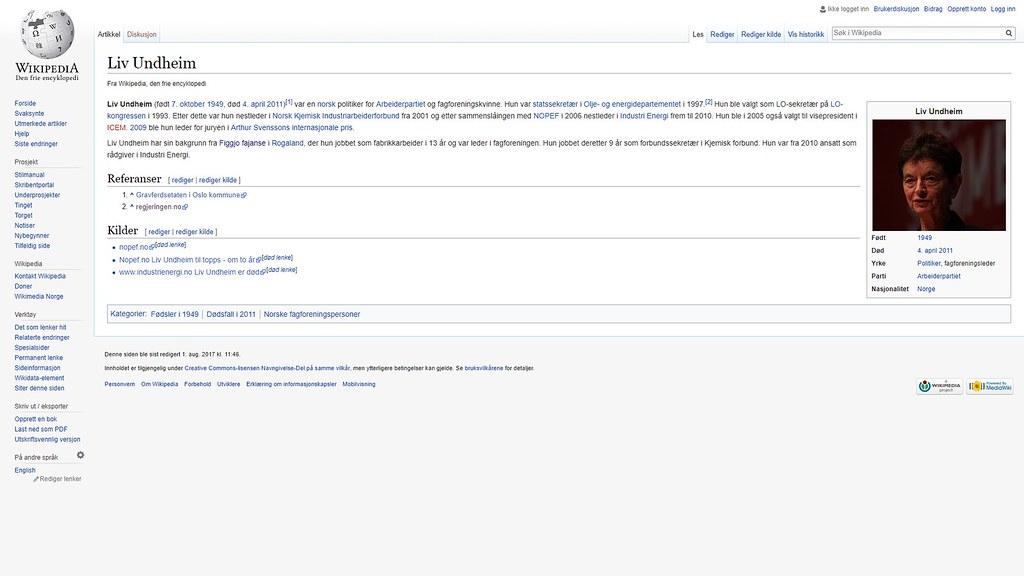 mer om liv undheim wiki