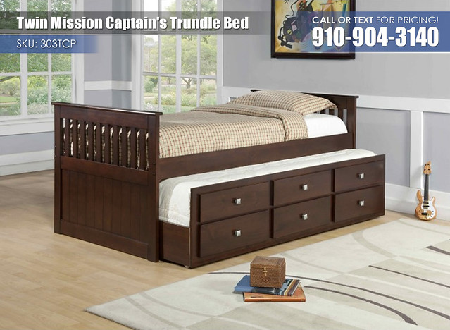 Mission Captains Twin Trundle Bed 303TCP