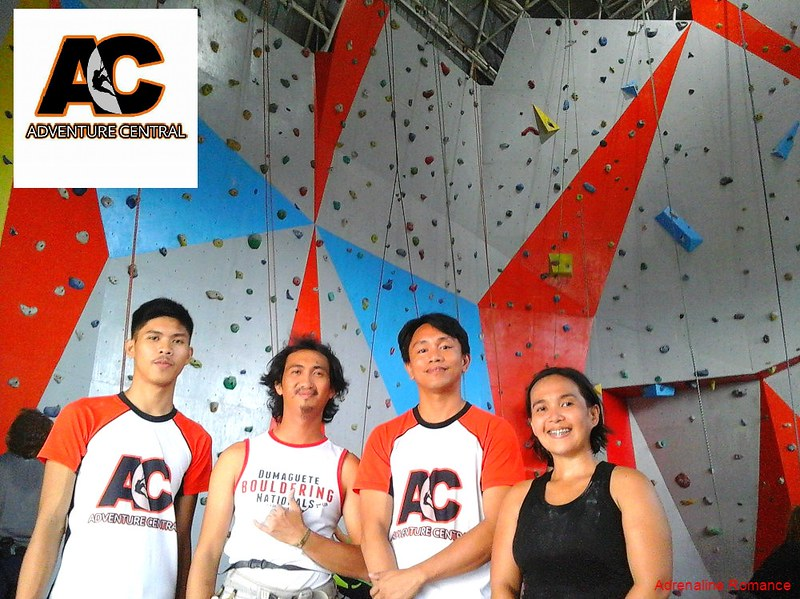 Handsome climbing instructors