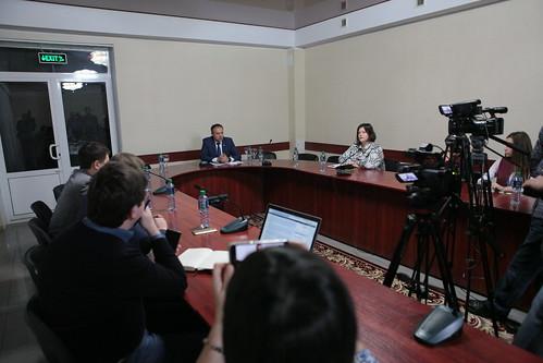 13.11.17 Discuția președintelui Parlamentului cu jurnaliștii din regiunea de nord a țării