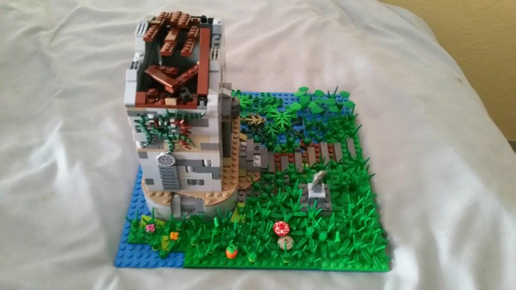 Lego derelict building