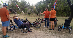 Kerrville weekend 024 Saturday trike discussions and test rides from Rebecca di Luce