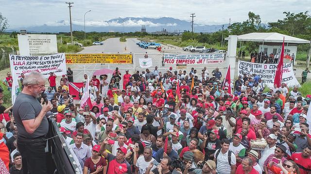 Em Itaboraí, Lula denuncia abandono do Complexo Petroquímico do Rio de Janeiro