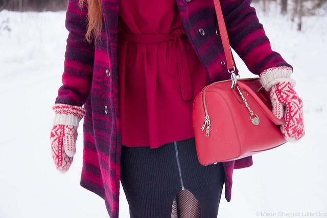 Talvipukeutuminen villakangastakilla