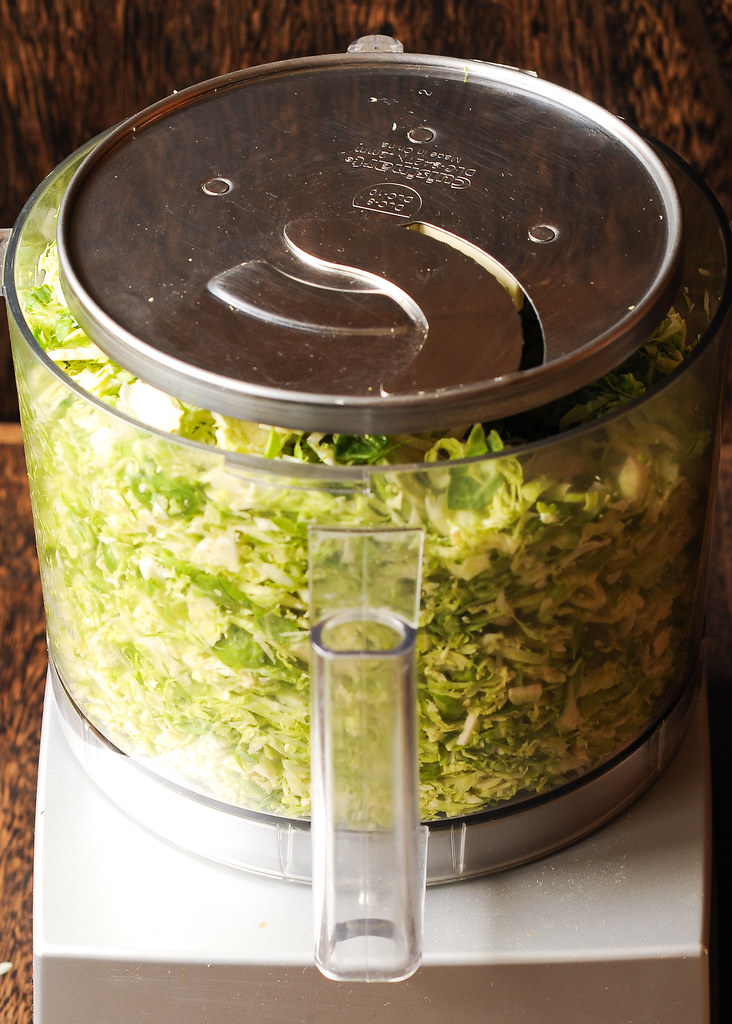 Brussels Sprouts in Food Processor