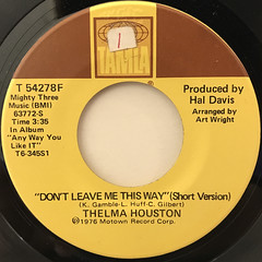 THELMA HOUSTON:DON'T LEAVE ME THIS WAY(LABEL SIDE-A)