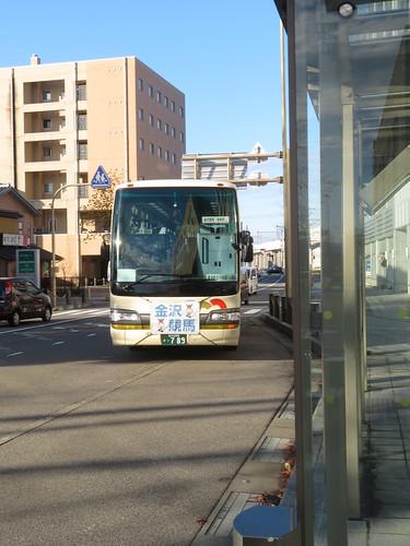金沢競馬場行の無料ファンバス