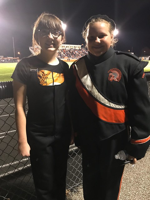 Julia and Haylee at the Ridgewood vs. Newcomerstown football game