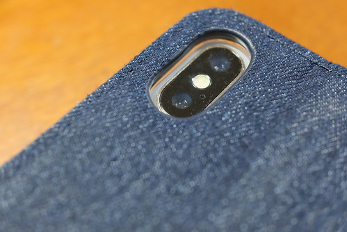 デニム×PUレザー iPhone X 専用 kuboq 手帳型ケース 05