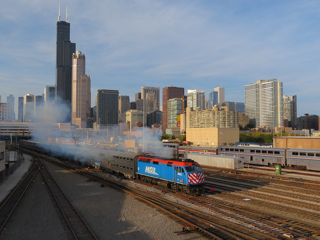 Smokin' Metra Train Leaving Union Station