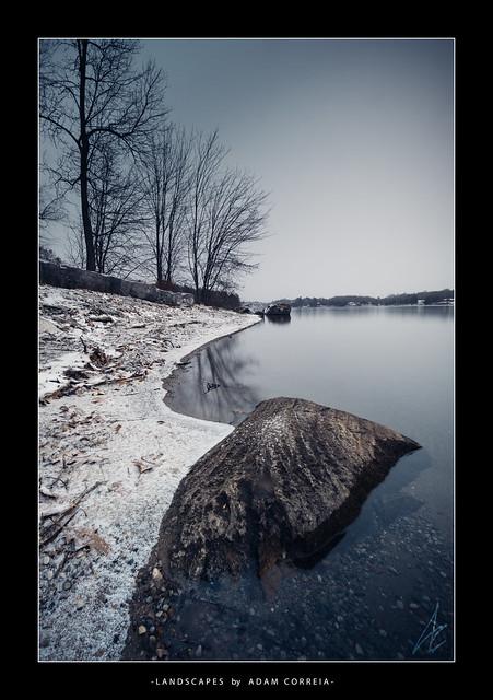 Snowy Verona Rock Lake