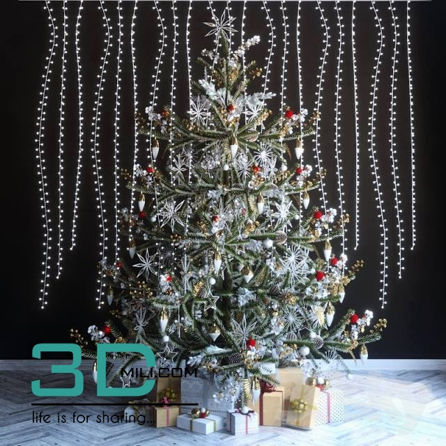 Christmas Decor 6 3dmodel Free Download