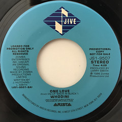 WHODINI:ONE LOVE(LABEL SIDE-B)