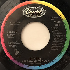 SLY FOX:LET'S GO ALL THE WAY(LABEL SIDE-A)